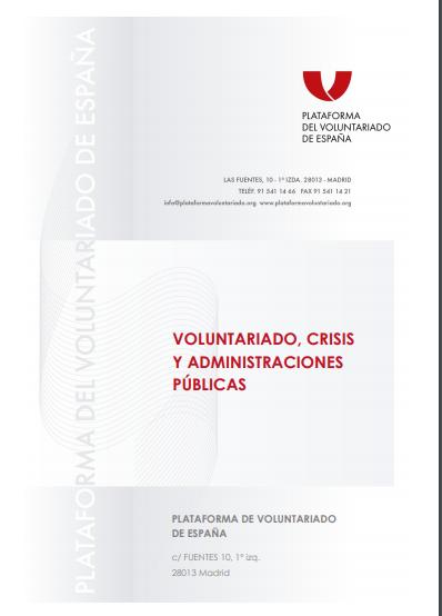 Voluntariado, crisis y administraciones públicas
