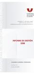 Informe de gestión 2008. Asamblea General Ordinaria