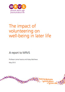 The impact of volunteering on well-being in later life