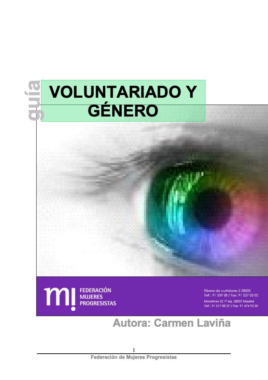 Voluntariado y género