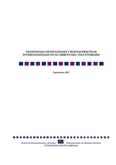 Tendencias, innovaciones y buenas prácticas internacionales en el ámbito del voluntariado