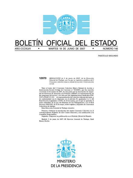 Convenio Colectivo Marco Estatal de Acción e Intervención Social