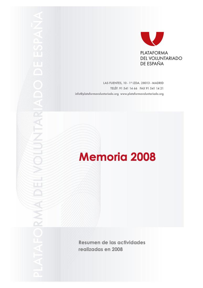 Memoria de Actividades 2008. PVE