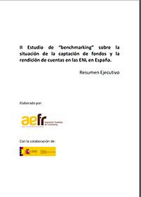 """II Estudio de """"benchmarking"""" sobre la situación de la captación de fondos y la rendición de cuentas en las ENL en España"""