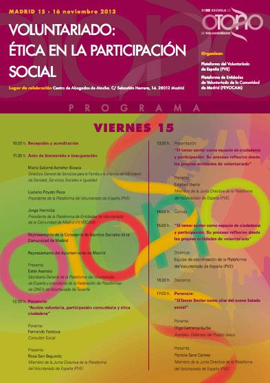 XVIII Escuela de Otoño. Voluntariado: ética en la participación social