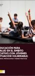 La Educación para la Salud en el ámbito educativo con jóvenes en situación vulnerable: dificultades, metodologías y buenas prácticas