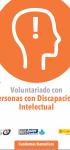 Voluntariado Cuadernos formativos Personas con Discapacidad Intelectual