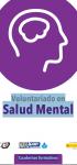 Voluntariado en Cuadernos formativos Salud Mental