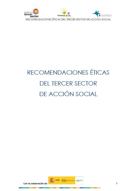 Recomendaciones Éticas para el Tercer Sector de Acción Social