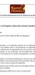 El voluntariado en España; situación actual, tendencias y retos