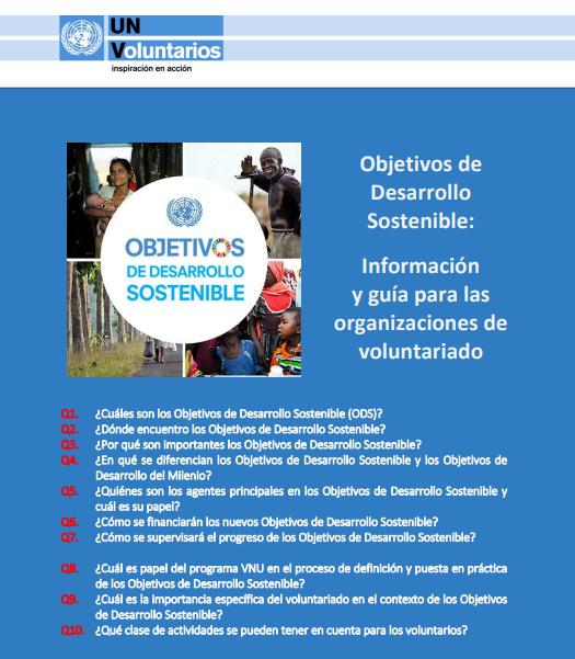 Objetivos de Desarrollo Sostenible: Información y Guía para instituciones de Voluntariado