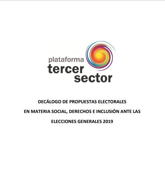 Decálogo de propuestas electorales en materia social, de derechos e inclusión ante las Elecciones Generales 2019