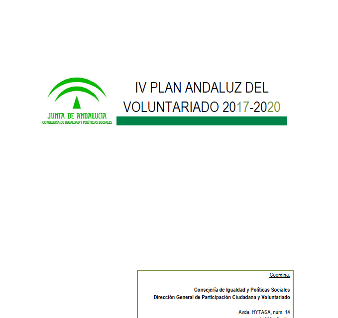 IV Plan Andaluz del Voluntariado (2017-2020)
