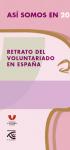Así somos en 2018: retrato del Voluntariado en España