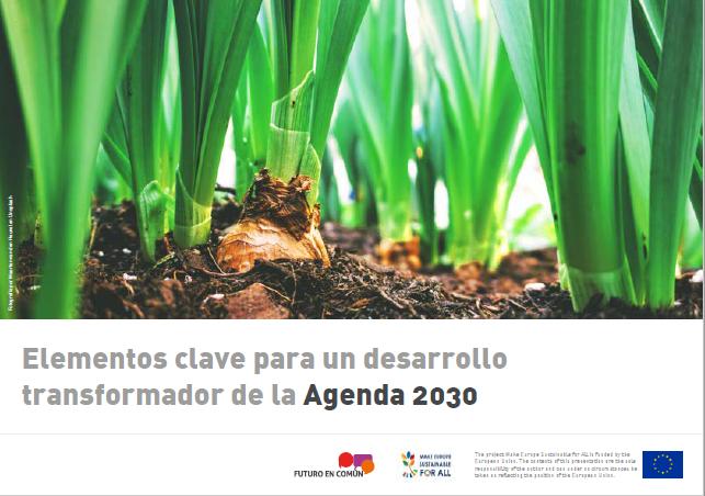 Elementos clave para un desarrollo transformador de la Agenda 2030