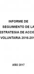 Informe de seguimiento de la estrategia de acción voluntaria 2016-2018 (2017)