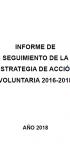 Informe de seguimiento de la estrategia de acción voluntaria 2016-2018 (2018)