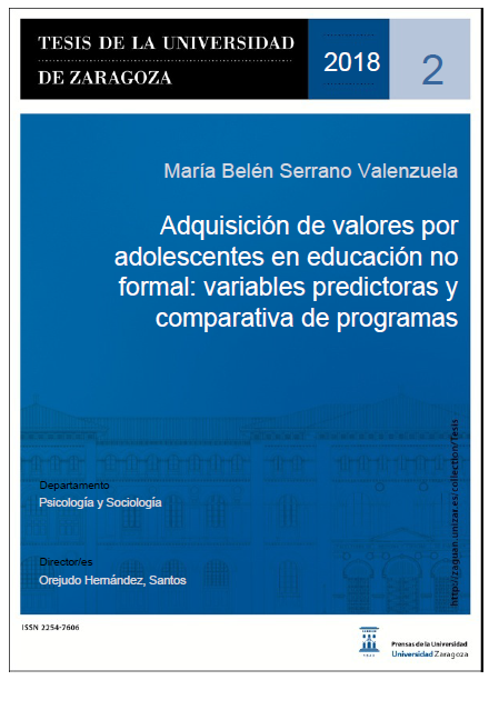 Adquisición de valores por adolescentes en educación no formal: variables predictoras y comparativa de programas