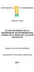 El Voluntariado en la Universidad de Extremadura: análisis de su desarrollo y de su perfil psicosocial