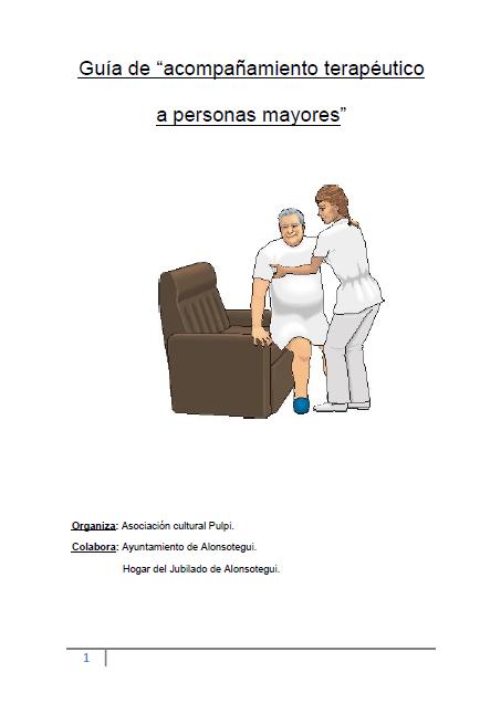 """Guía de """"acompañamiento terapéutico a personas mayores"""""""