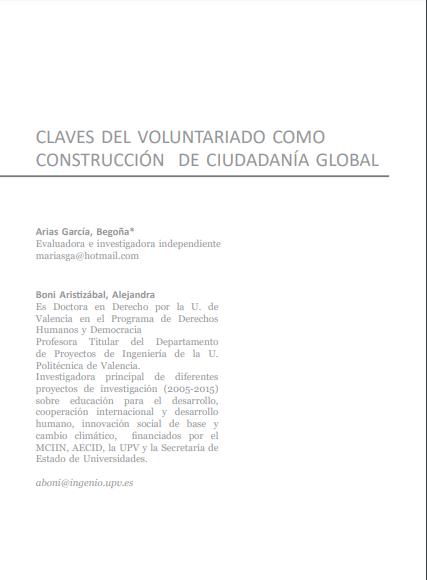 Claves del voluntariado como construcción de ciudadanía global
