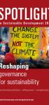 Spotlight on Sustainable Development 2019: Reshaping governance for sustainability
