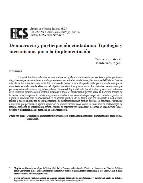 Democracia y participación ciudadana: Tipología y mecanismos para la implementación