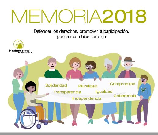 Memoria de la Plataforma de ONG de Acción Social 2018