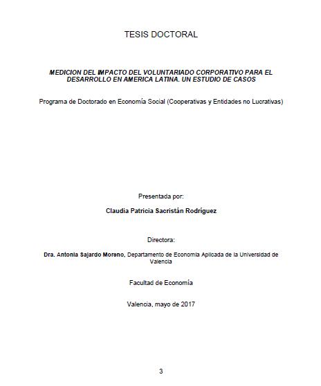 Medición del impacto del Voluntariado Corporativo para el Desarrollo en América Latina: Un estudio de casos