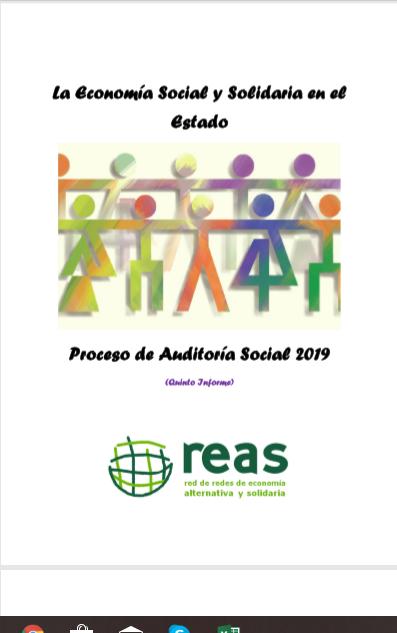 La Economía Social y Solidaria en el Estado: Proceso de Auditoría Social 2019 (Quinto Informe)