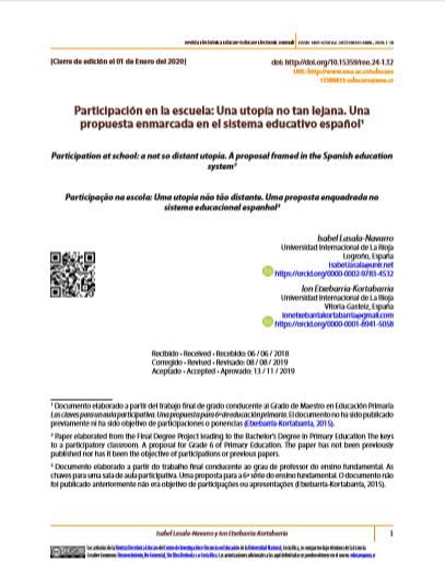 Participación en la escuela: Una utopía no tan lejana, una propuesta enmarcada en el sistema educativo español