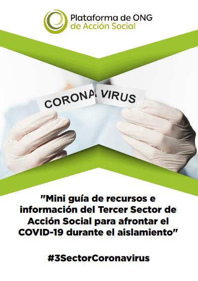 Mini guía de recursos e información del Tercer Sector de Acción Social para afrontar el COVID-19 durante el aislamiento