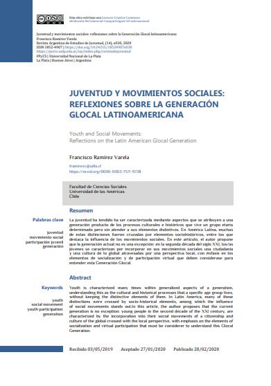 Juventud y Movimientos Sociales: Reflexiones sobre la Generación Glocal Latinoamericana