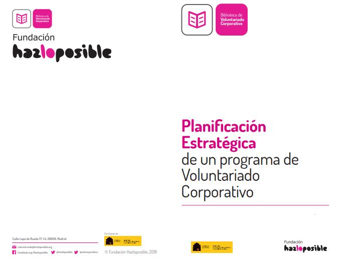 Planificación Estratégica de un programa de Voluntariado Corporativo