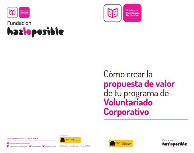 Cómo crear la propuesta de valor de tu programa de Voluntariado Corporativo