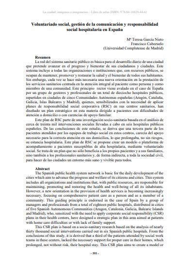 Voluntariado social, gestión de la comunicación y responsabilidad social hospitalaria en España