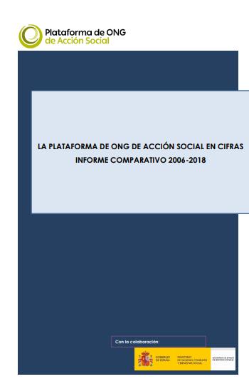 La Plataforma de ONG de Acción social en cifras: Informe comparativo 2006-2018