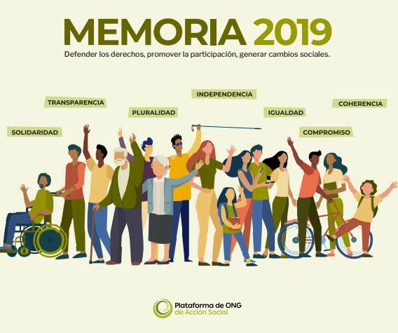 Memoria de la Plataforma de ONG de Acción Social 2019