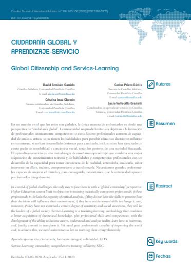 Ciudadanía Global y Aprendizaje-Servicio