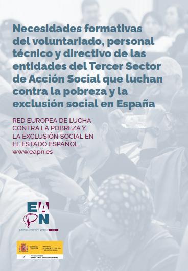 Necesidades formativas del voluntariado, personal técnico y directivo de las entidades del Tercer Sector de Acción Social que luchan contra la pobreza y la exclusión social en España