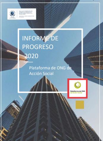 Informe de Progreso de la Plataforma de ONG de Acción Social