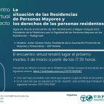 Encuentro virtual sobre la situación actual de las residencias de personas mayores
