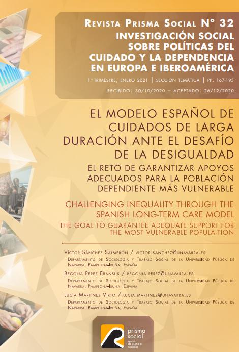 El modelo español de cuidados de larga duración ante el desafío de la desigualdad: El reto de garantizar apoyos adecuados para la población dependiente más vulnerable