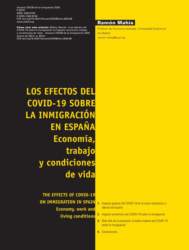 Los efectos del Covid-19 sobre la inmigración en España: Economía, trabajo y condiciones de vida
