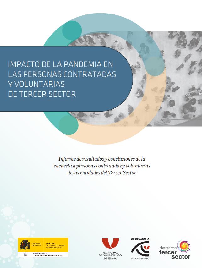 Impacto de la pandemia en las personas contratadas y voluntarias del Tercer Sector