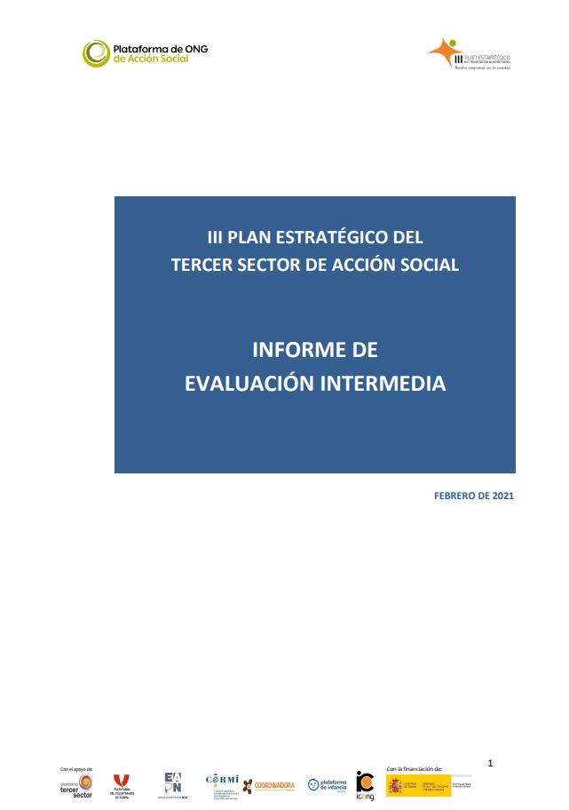 III Plan Estratégico del Tercer Sector de Acción Social: Informe de Evaluación Intermedia
