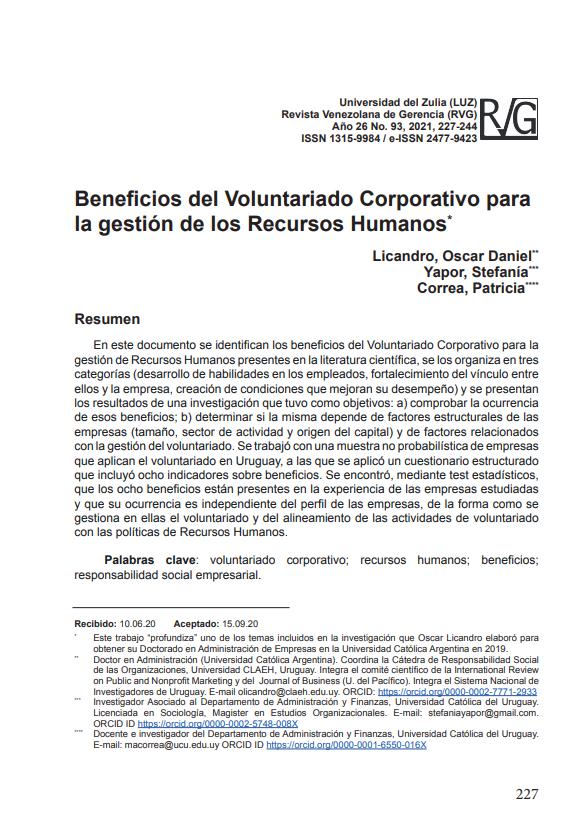 Beneficios del Voluntariado Corporativo para la gestión de los Recursos Humanos