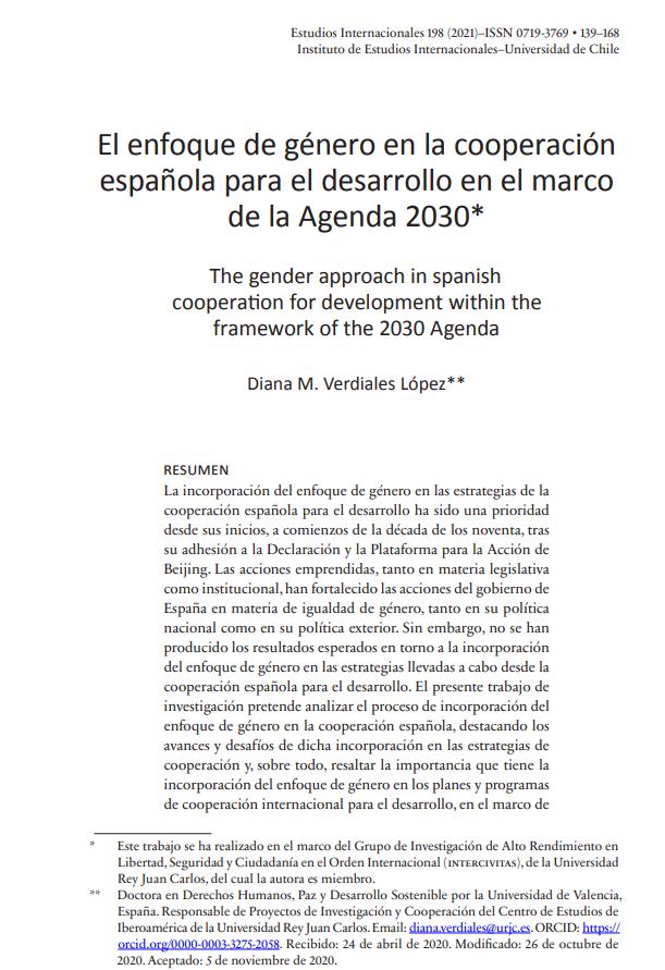 El enfoque de género en la cooperación española para el desarrollo en el marco de la Agenda 2030