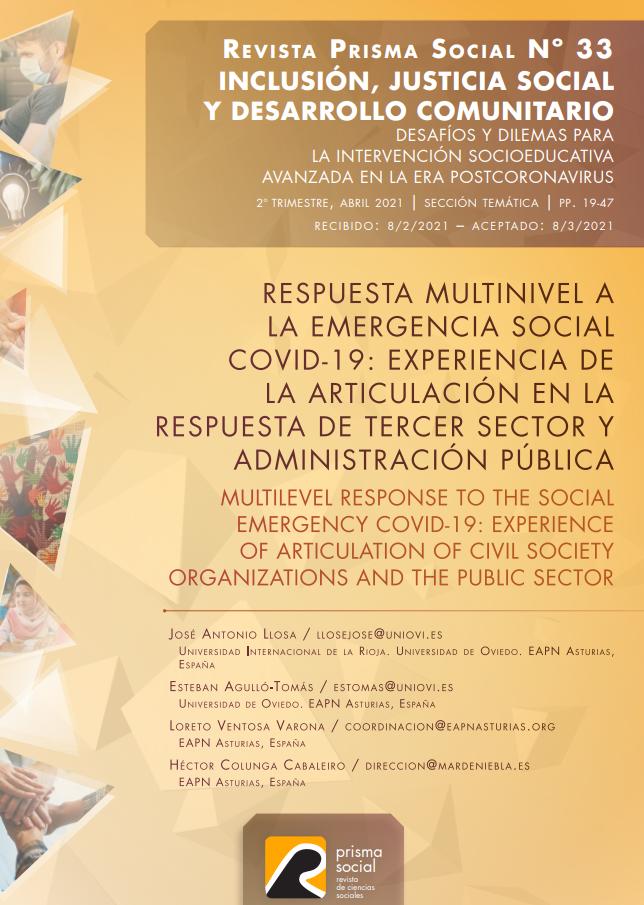 Respuesta multinivel a la emergencia social Covid-19: Experiencia de la articulación en la respuesta del Tercer Sector y Administración Pública