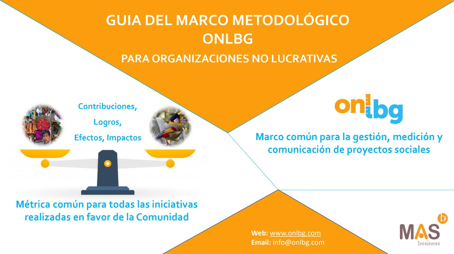 Guía del marco metodológico ONLBG para organizaciones